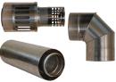 Коаксиальный дымоход для газовых каминов Karma NOBLESSE D130/200 1000 мм в Перми